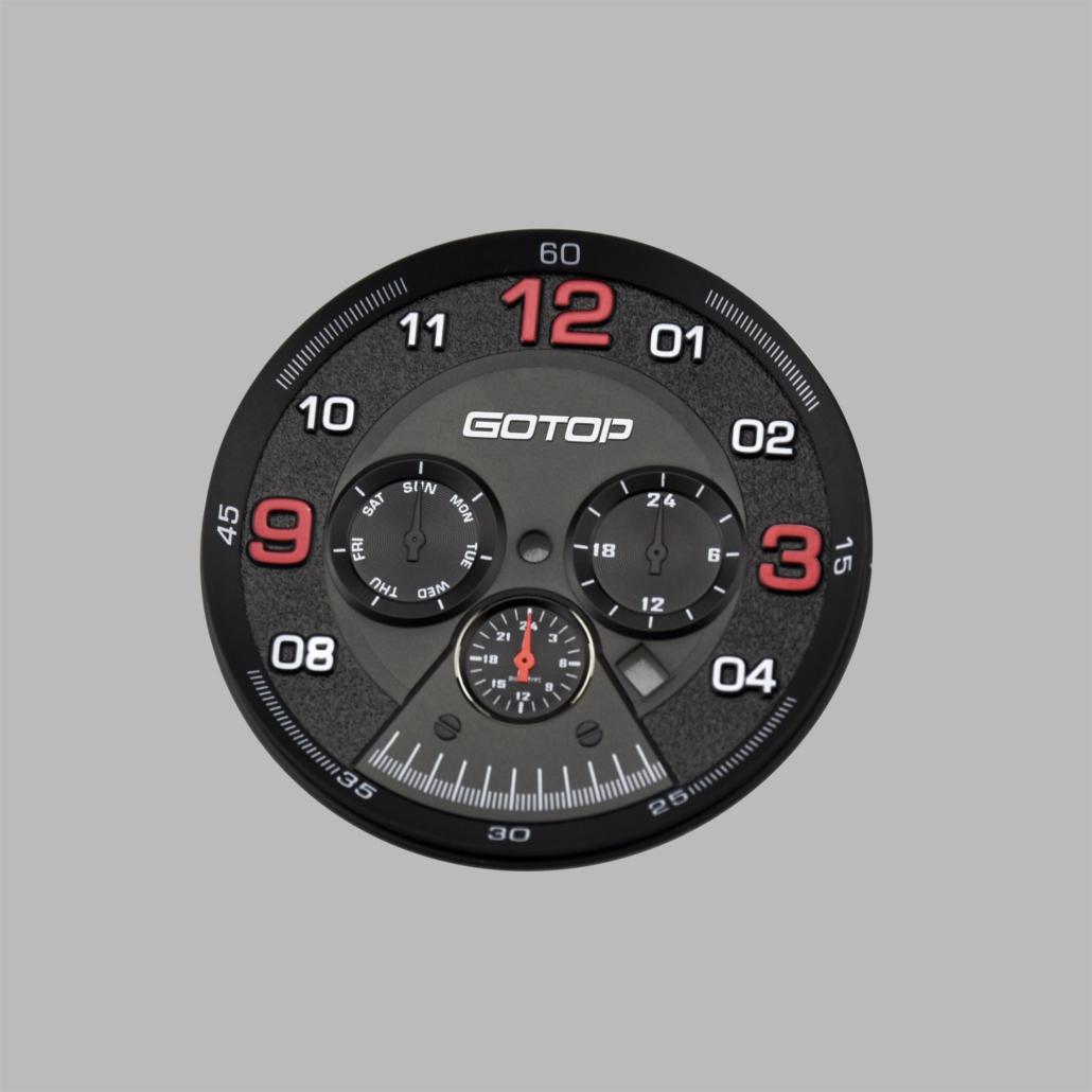 WD001  Matt Black Oil Pressed Watch Dial