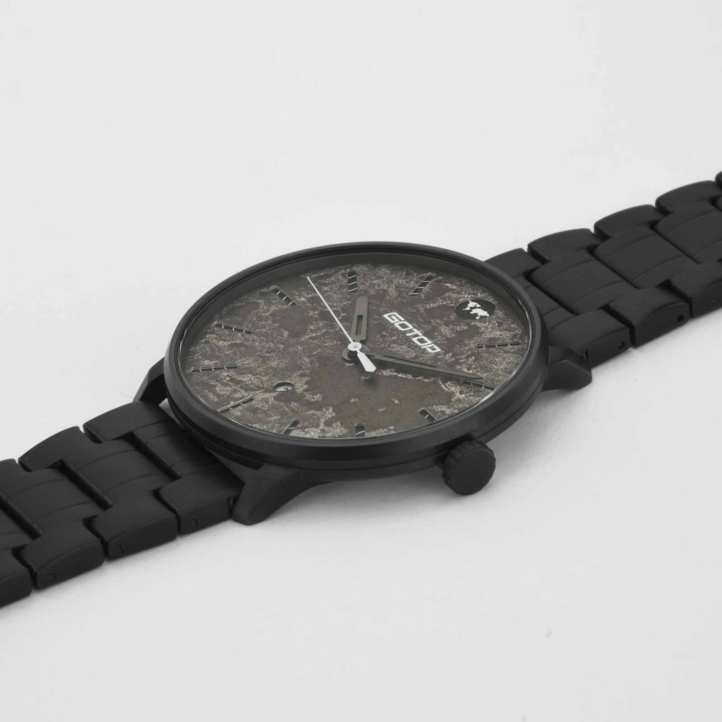 SS549-03 Black Stainless Steel Watch Mens