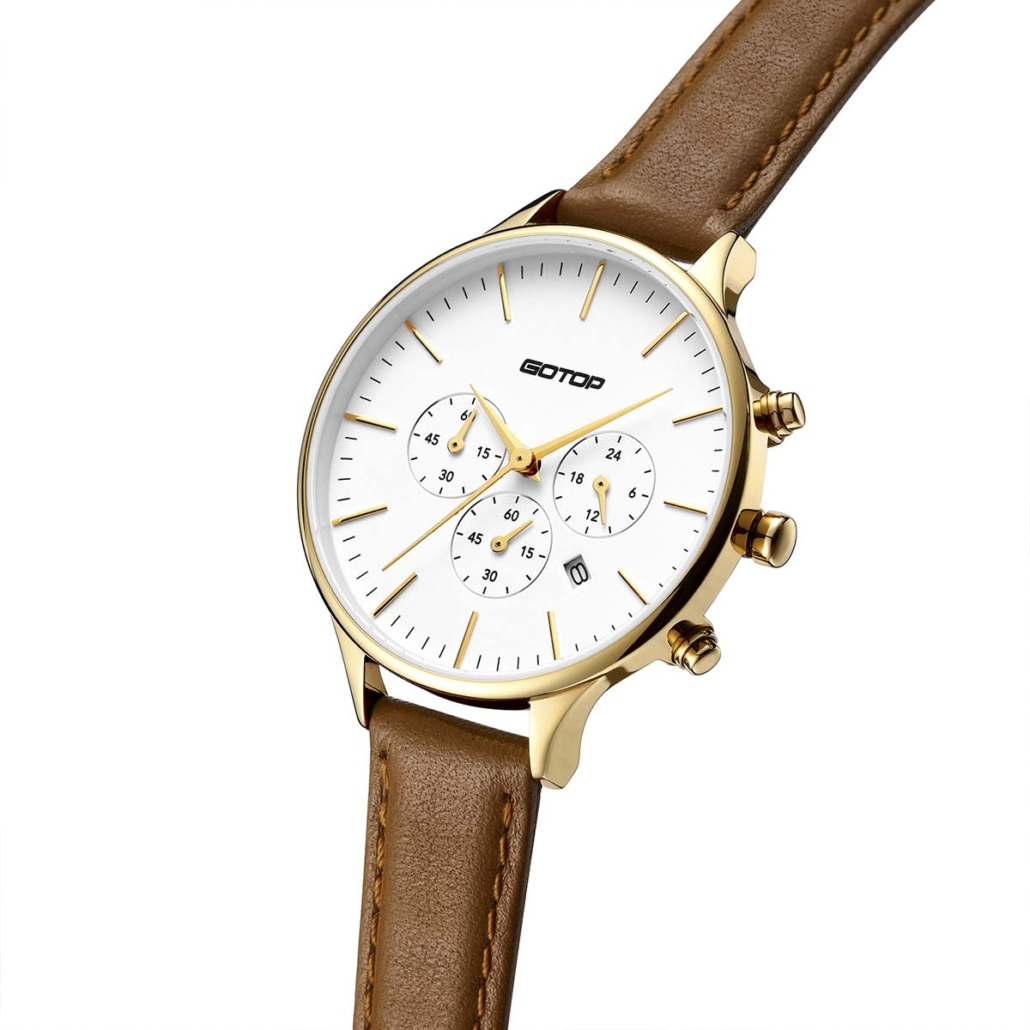 SS356-01 Chronograph Watch Ladies With Three Subdials