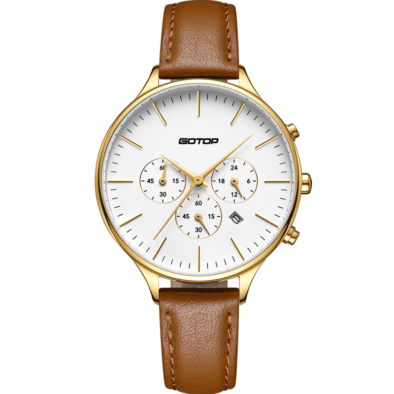 SS356-01 Women'S Chronograph Leather Watch