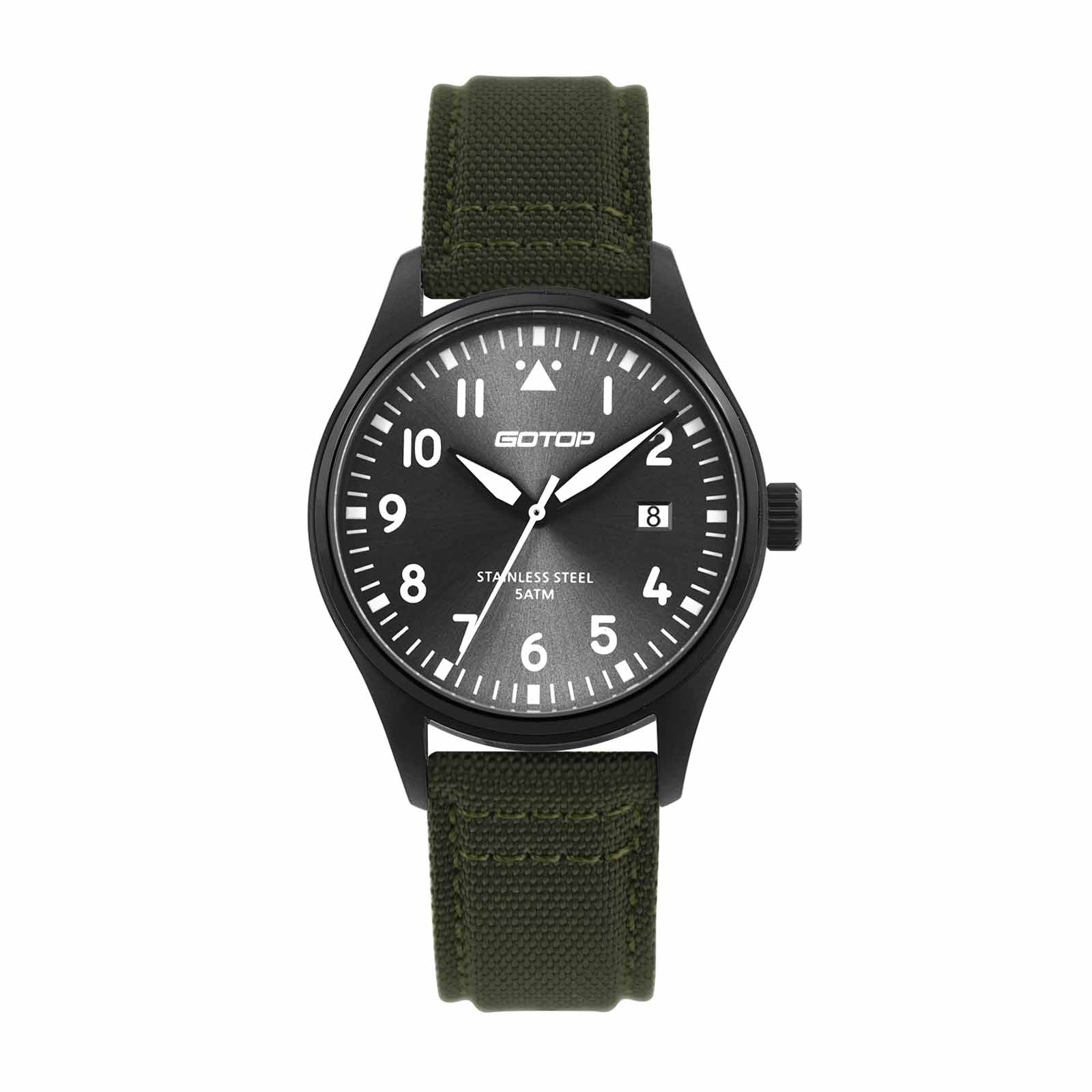 Green Canvas Watch For Men