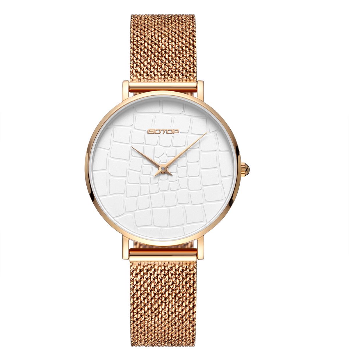 Slim Case Mesh Strap Women's Watch