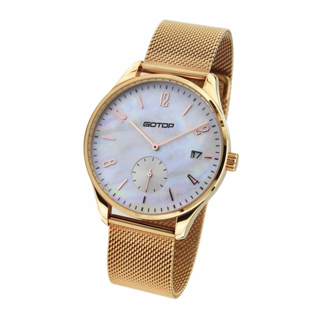 SS312-01 Mens Rose Gold Quartz Watch Mens Rose Gold Quartz Watch