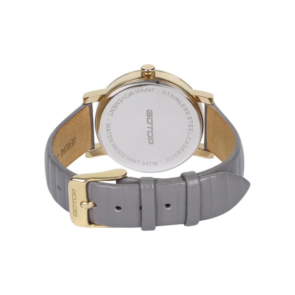 SS393 Texture Calf Genuine Leather Strap Women's Watch