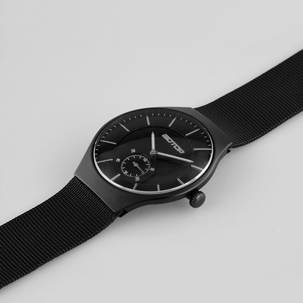 AW164 Matt Black Stainless Steel Men's Watch