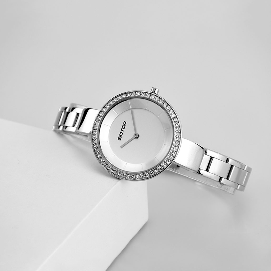 AW476 Polished Silver Finish Stainless Steel Women's Watch