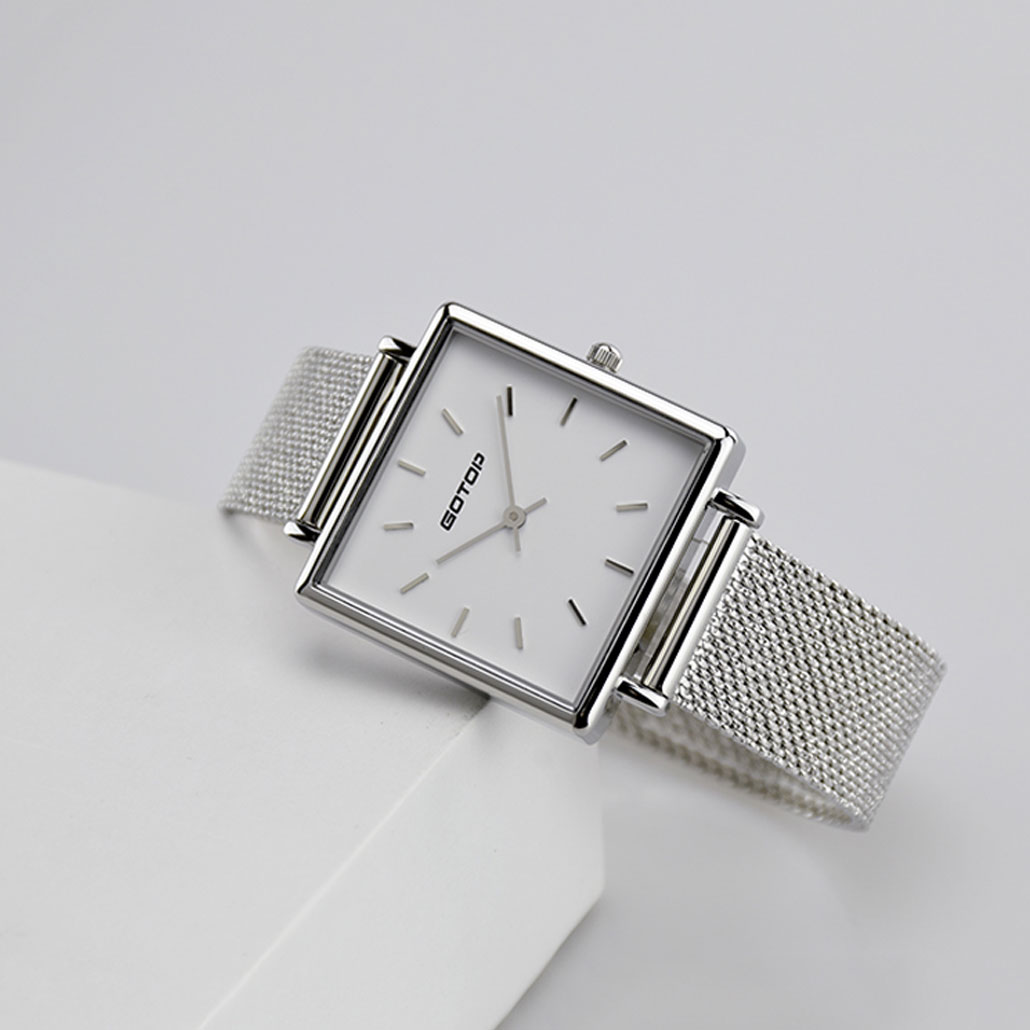 Rectangle Dial Watches For Ladies