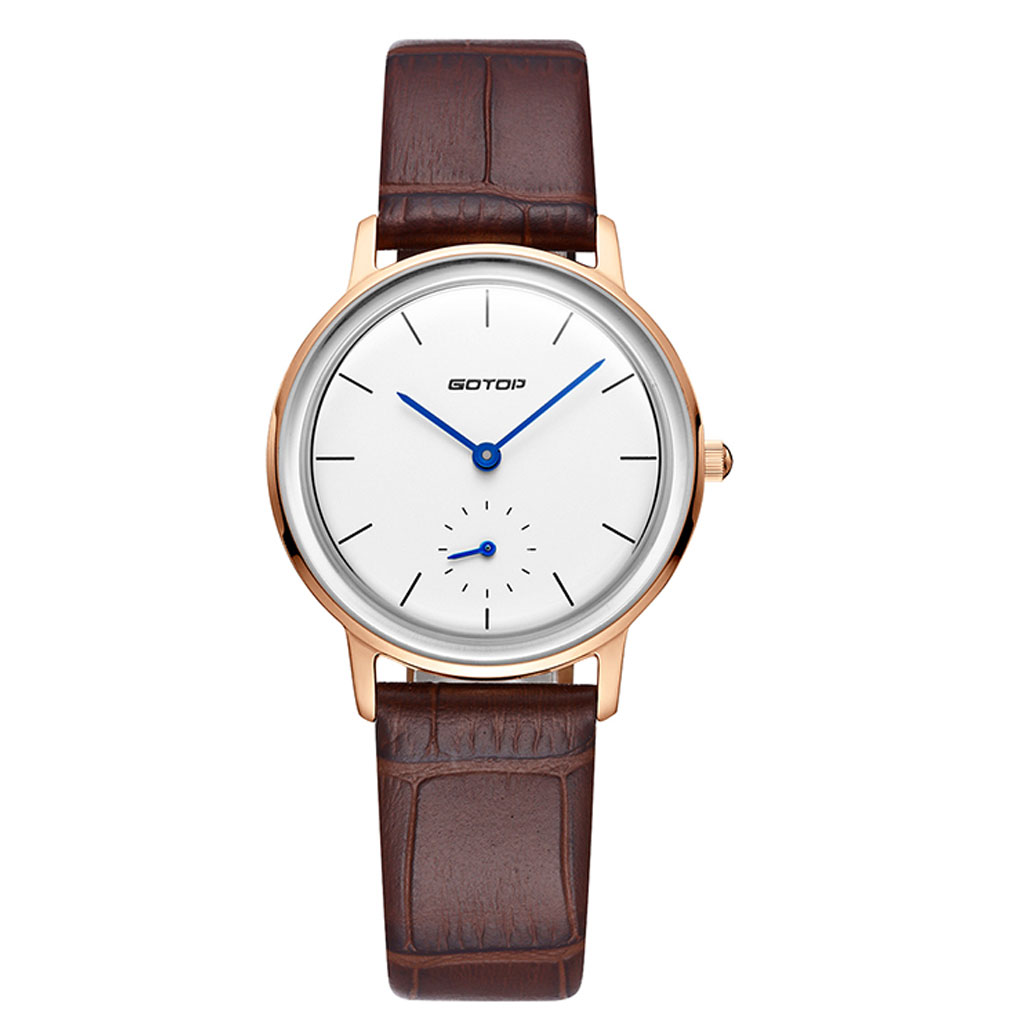 SS298-01 Men's Watch In Rose Gold With Brown Leather Strap