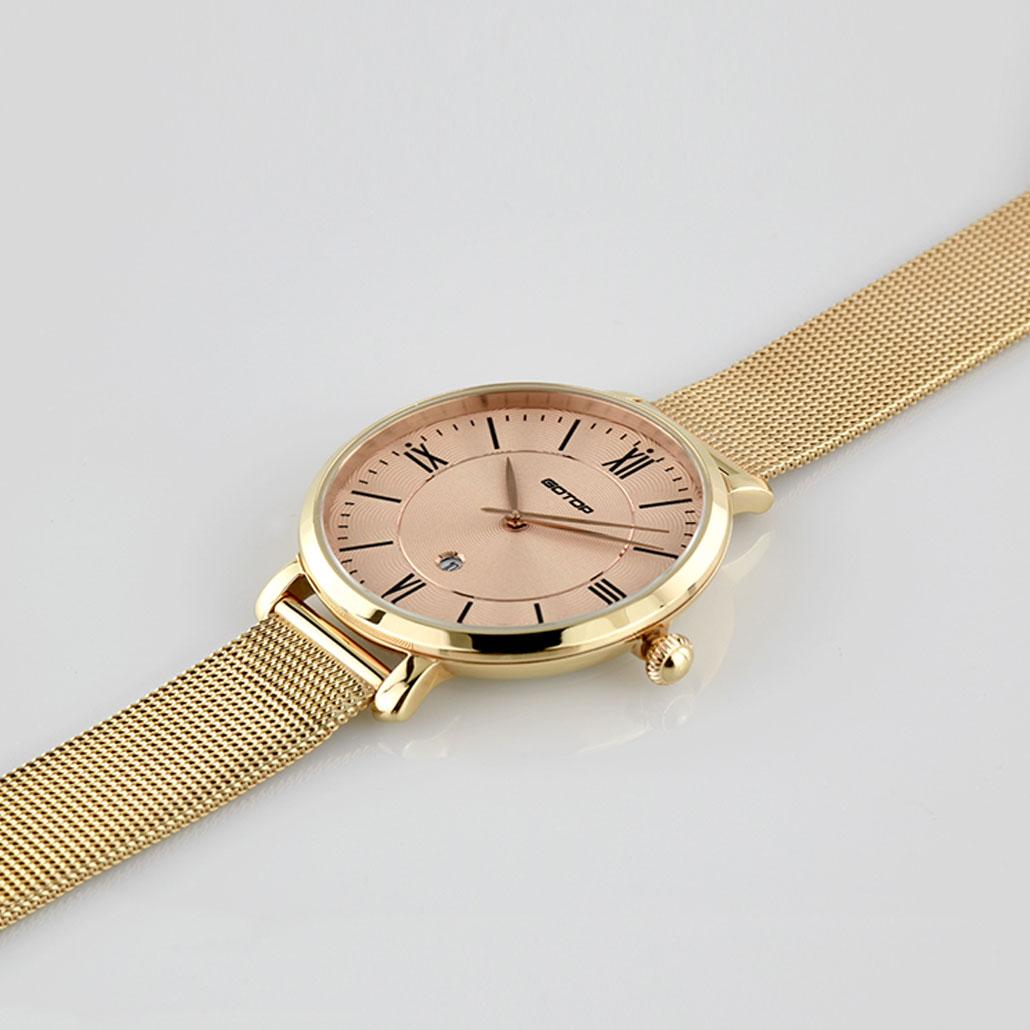 Gold Designer Watch Womens