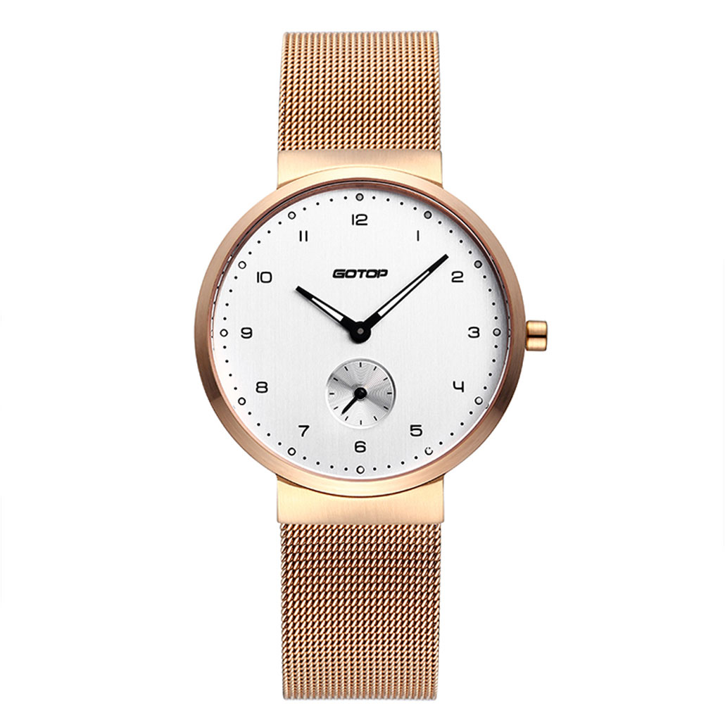 SS388-02 Rose Gold Women's Watch With Mesh Band