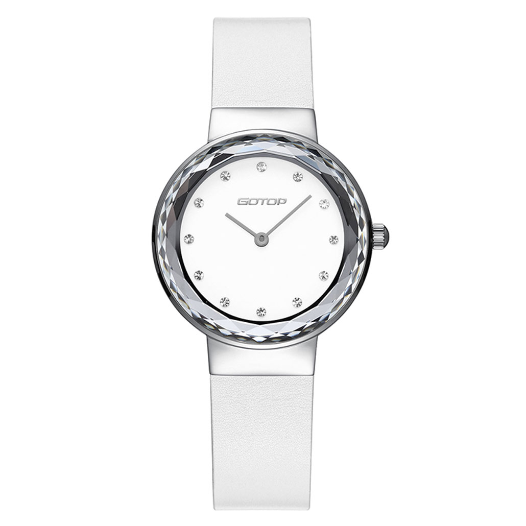 Silver And White Stainless Steel Watch For Women