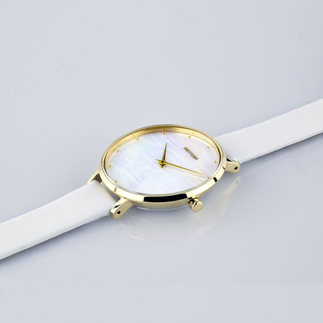 SS545-02 Gold Women's Watch With Mother Of Pearl Dial