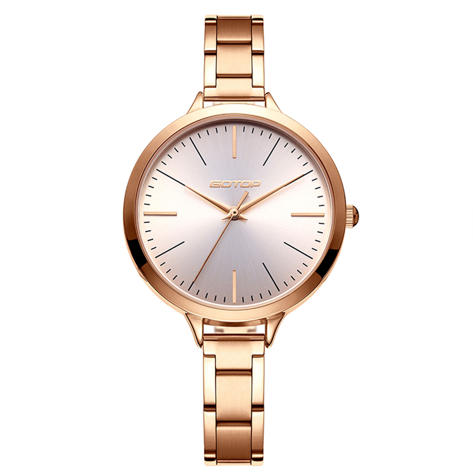 Rose Gold Stainless Steel Women's Watch