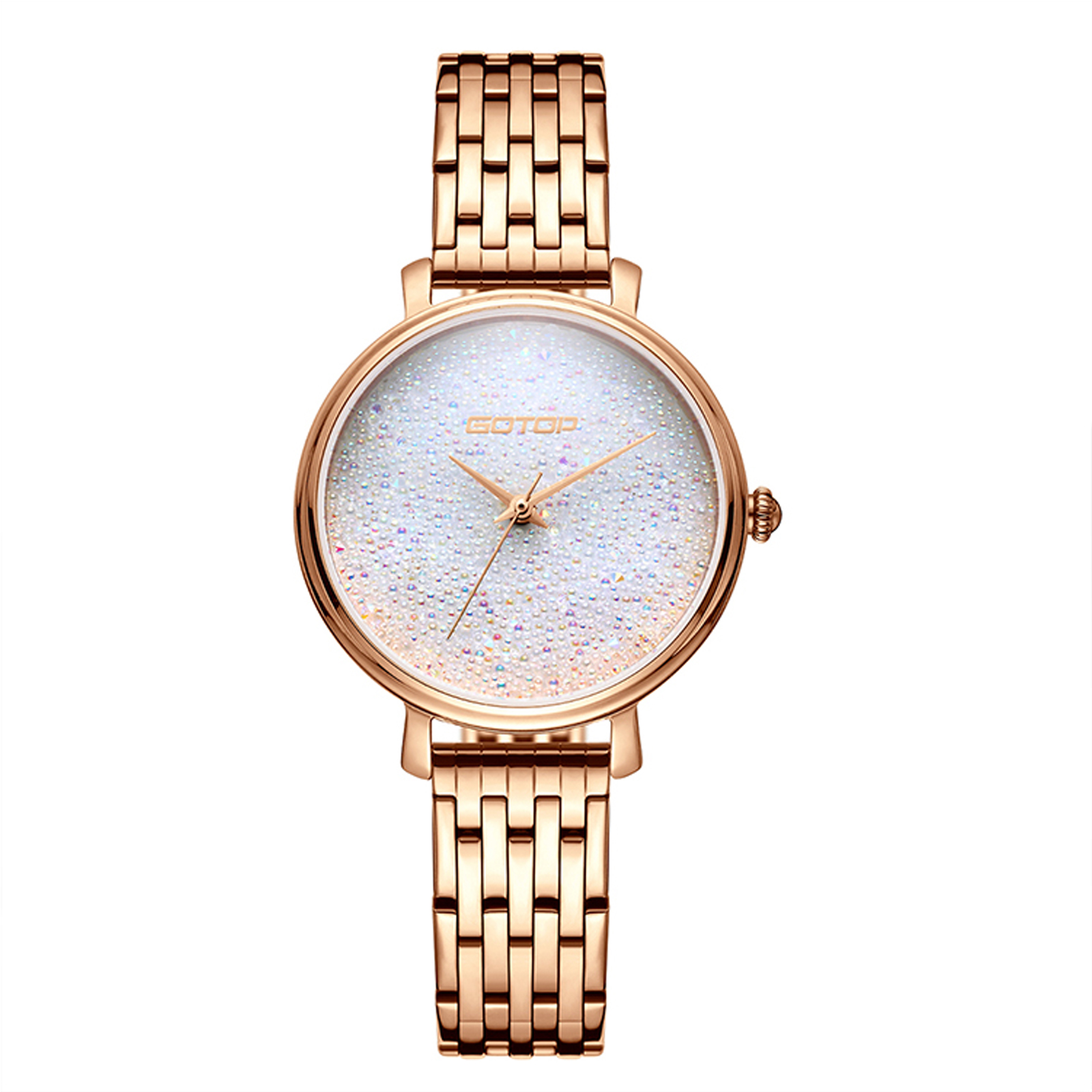 Rose Gold And White Ladies Watch
