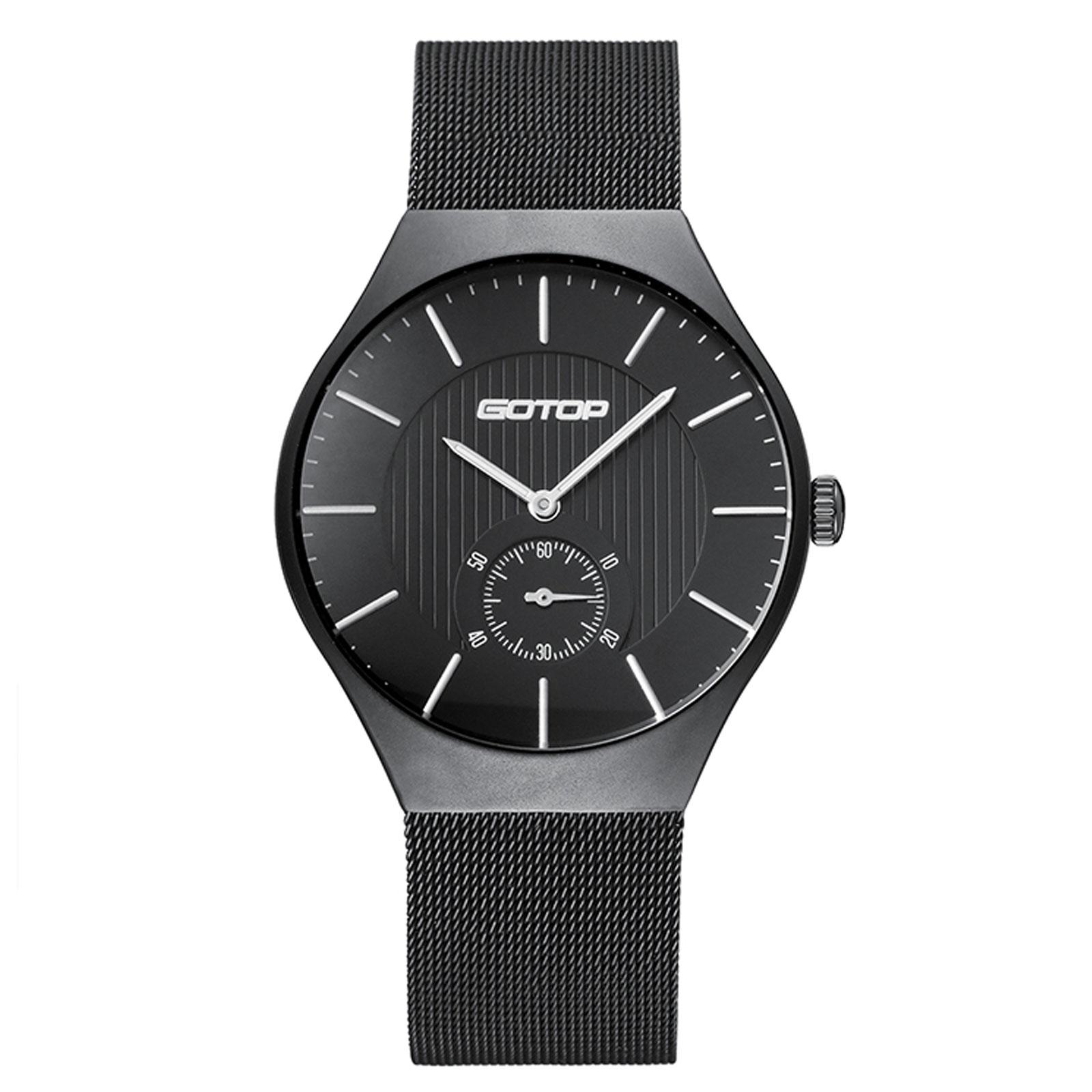 Matt Black Stainless Steel Men's Watch