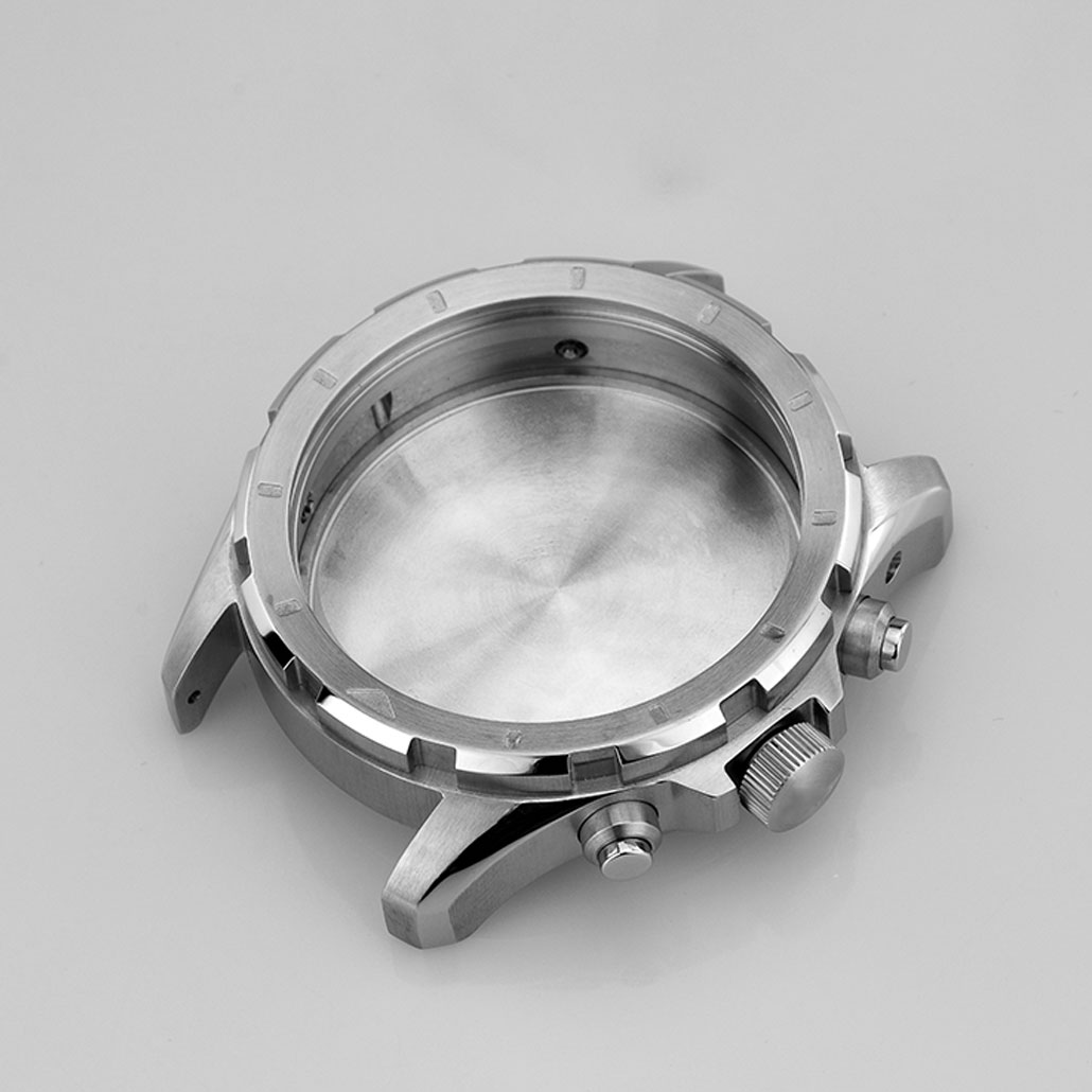 Large Stainless-steel Watch Case With Rotating Bezel