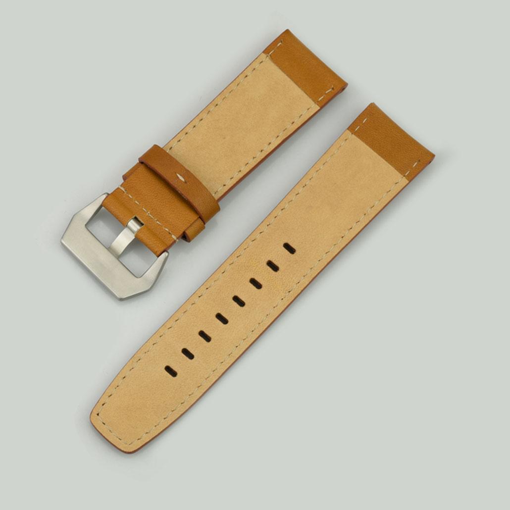 WL009 Dark Brown Men's Watch Strap In Leather