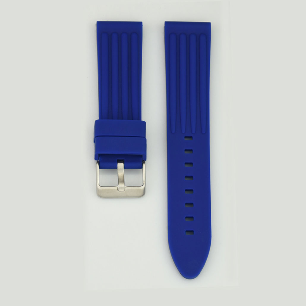WR001 Blue Silicone Rubber Watch Strap