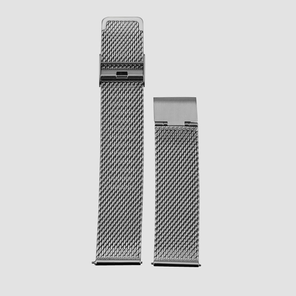 Silver Mesh Band With Quick Release Clasp