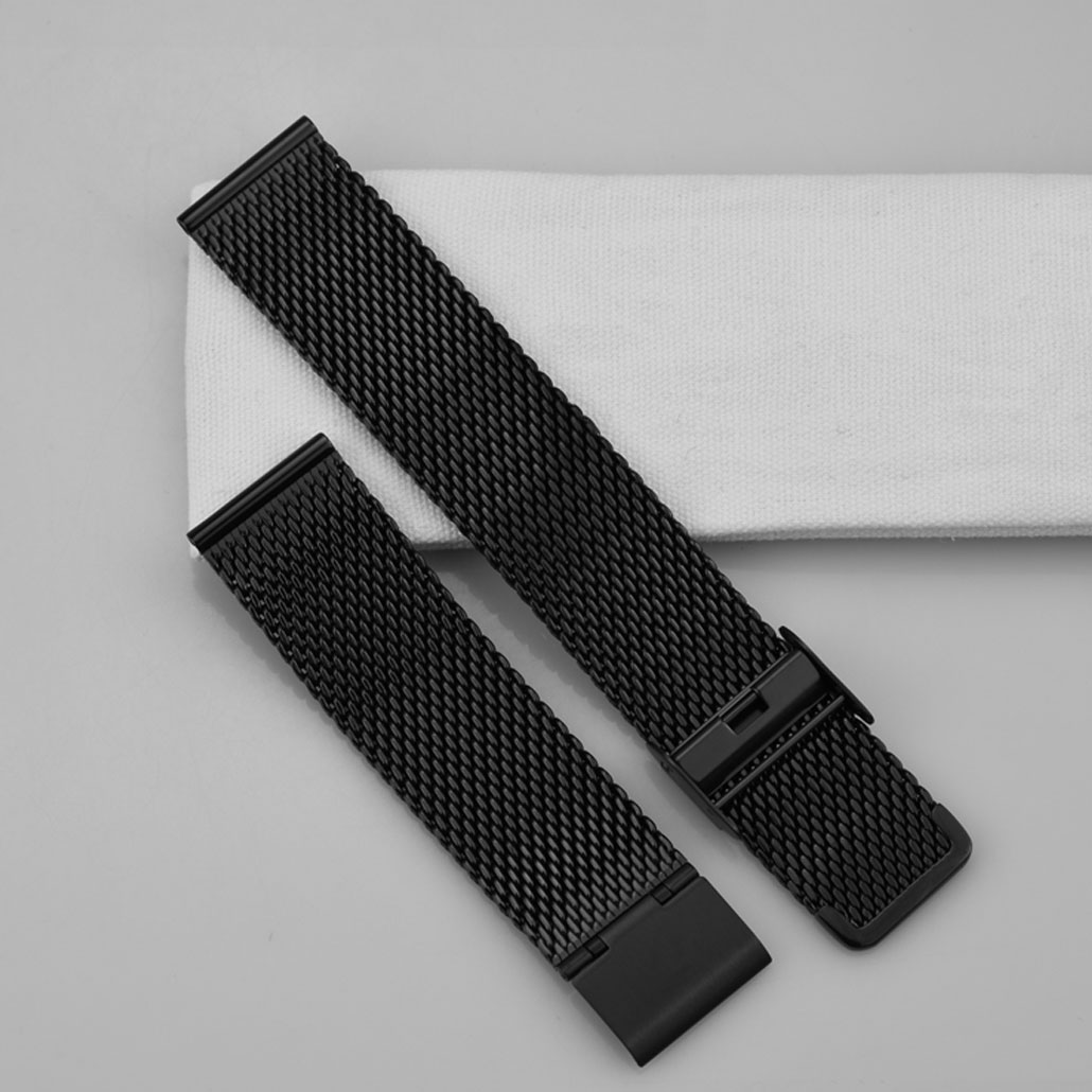 WS009 Black Mesh Band In Stainless-steel