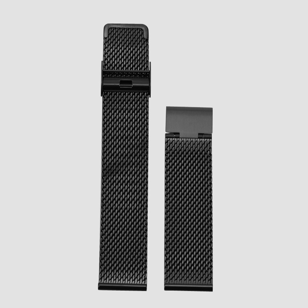 Black Mesh Band In Stainless-steel