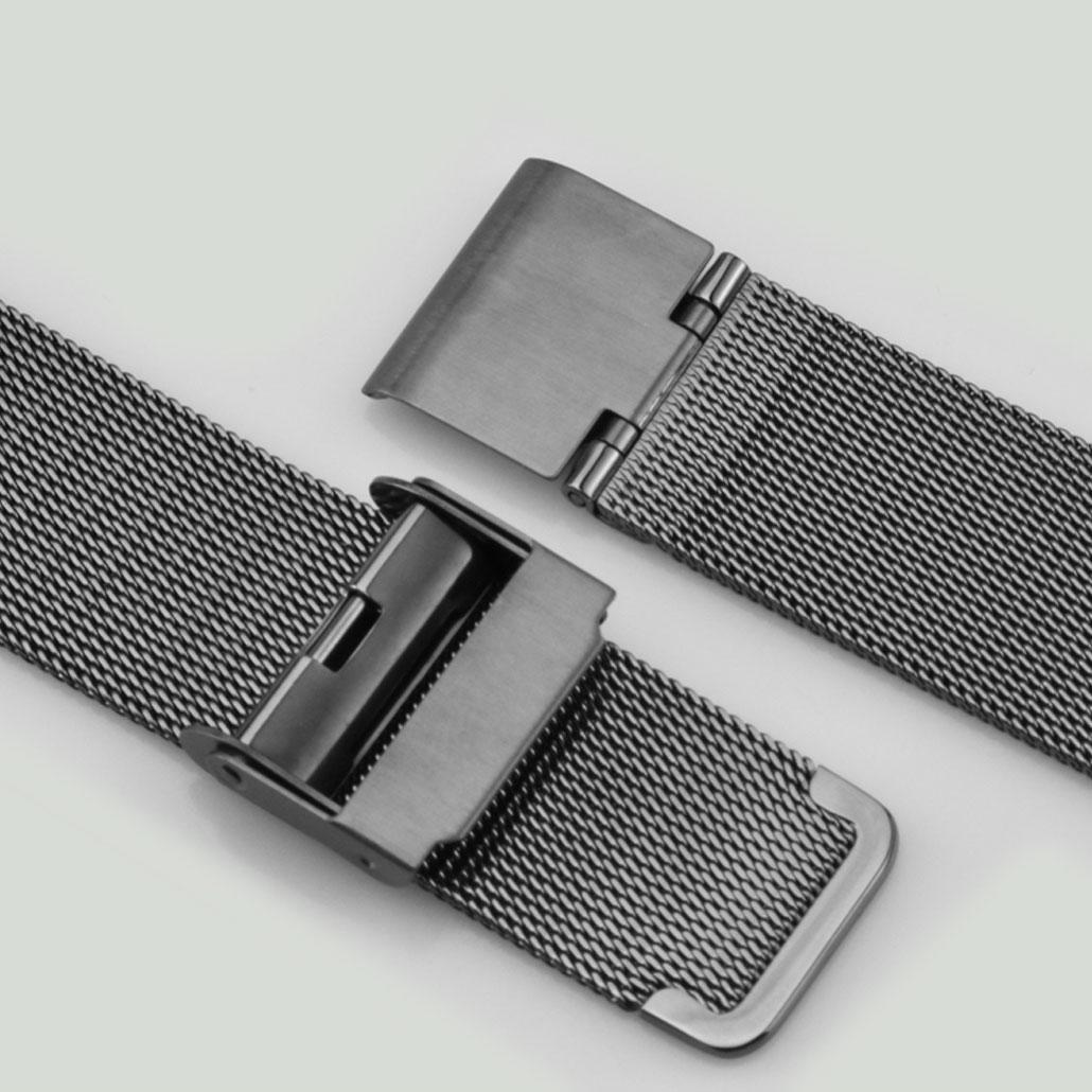 WS010 Black Stainless-steel Watch Bracelet