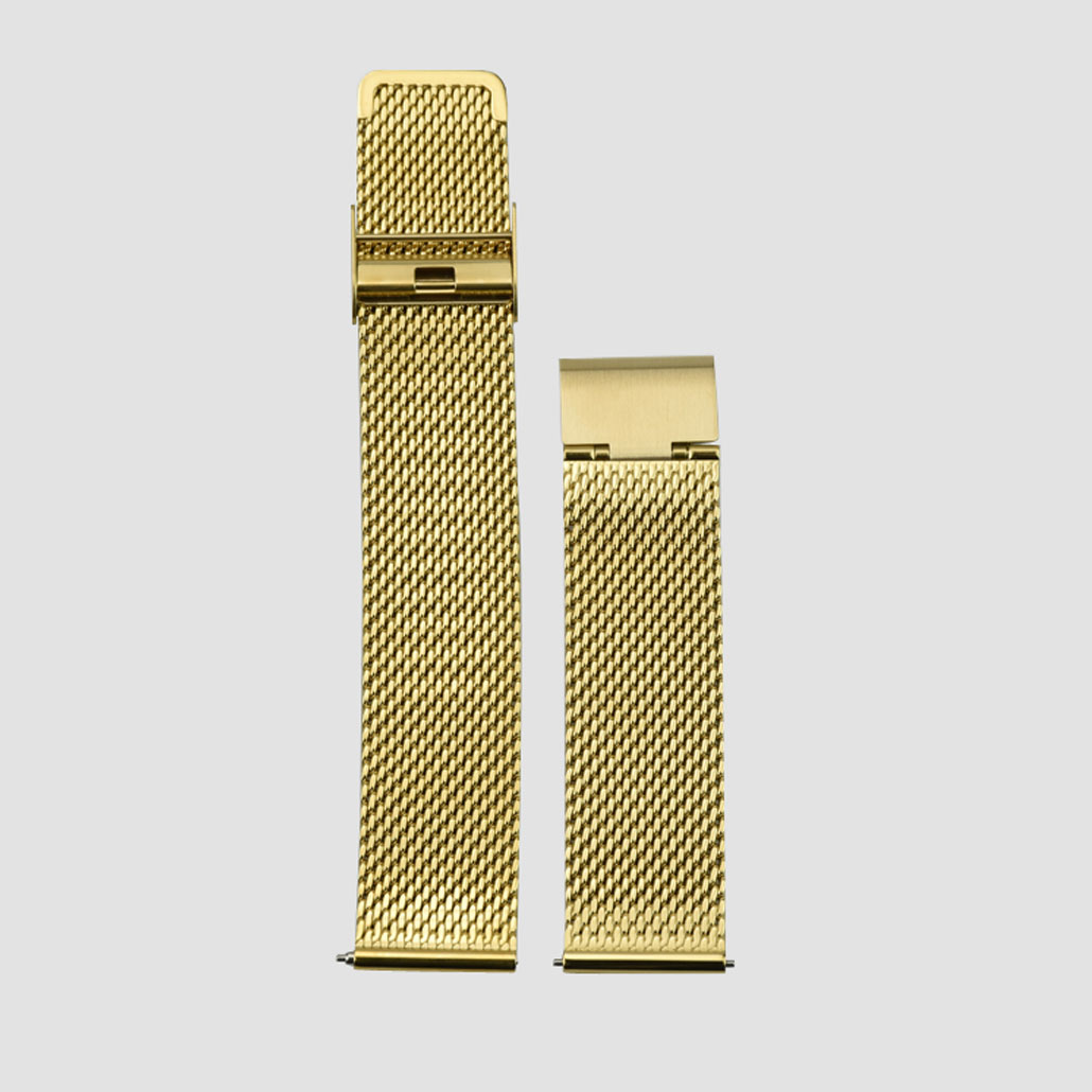 WS011 Gold Colored Stainless-steel Watch Band