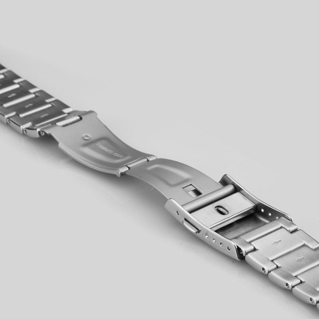 WS018 Fine Stainless-steel Watch Bracelet In Silver Finish