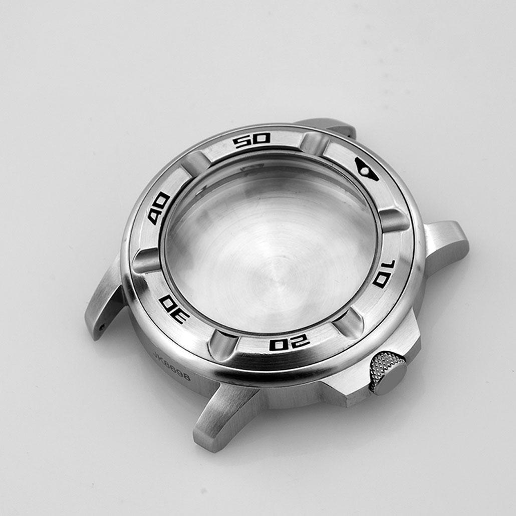 Stainless-Steel Round Men's Watch Case