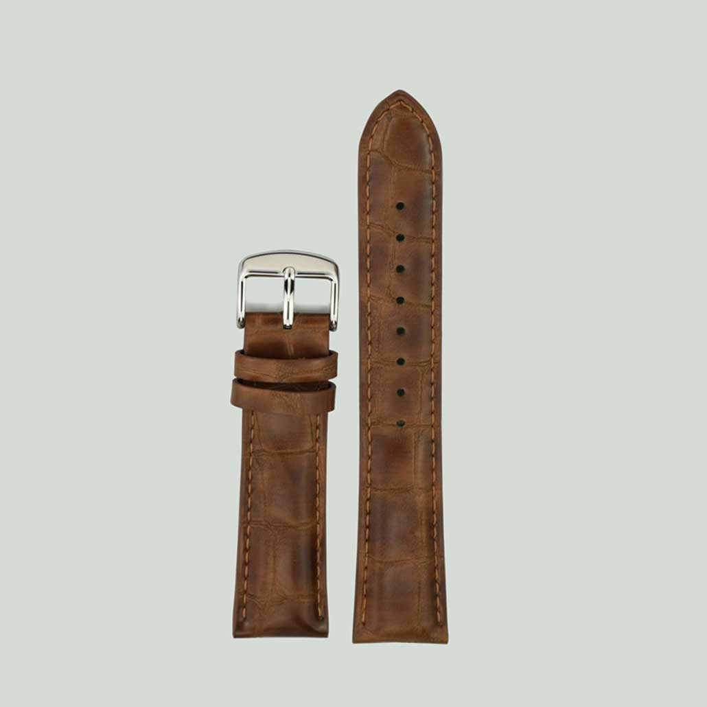 Coffee Colored Leather Watch Strap