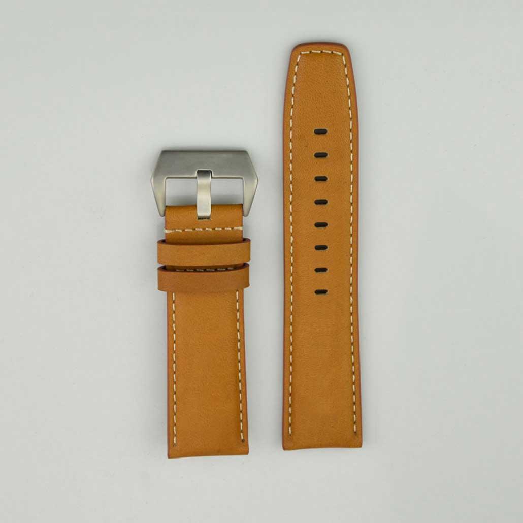 Dark Brown Men's Watch Strap In Leather