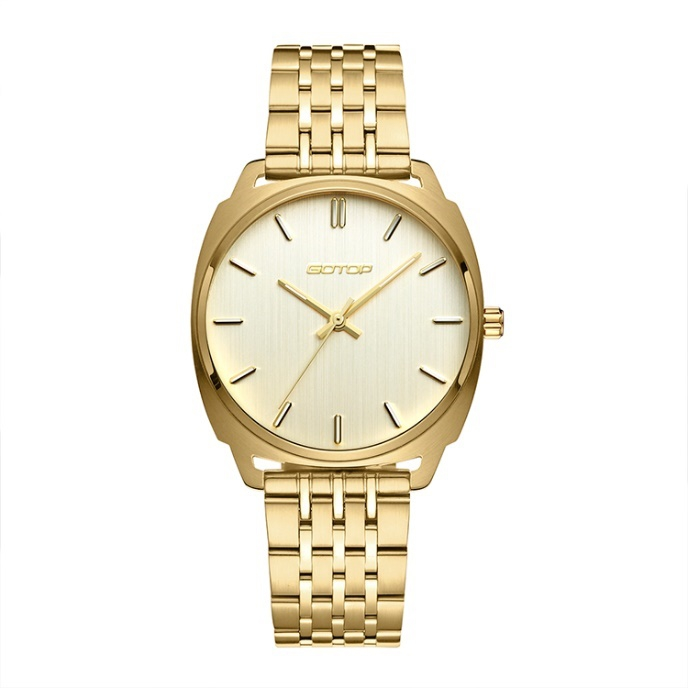 Expensive And Luxury Stainless Steel Gold Finished Women's Watch