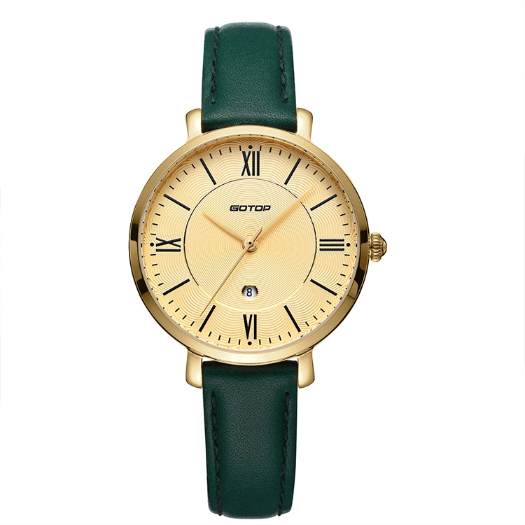 Gold And Green Women's Watch