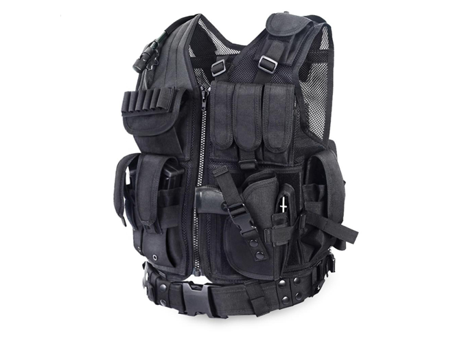Tactical Vest With Pistol Holster