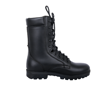 Black Leather Tactical Combat Boots
